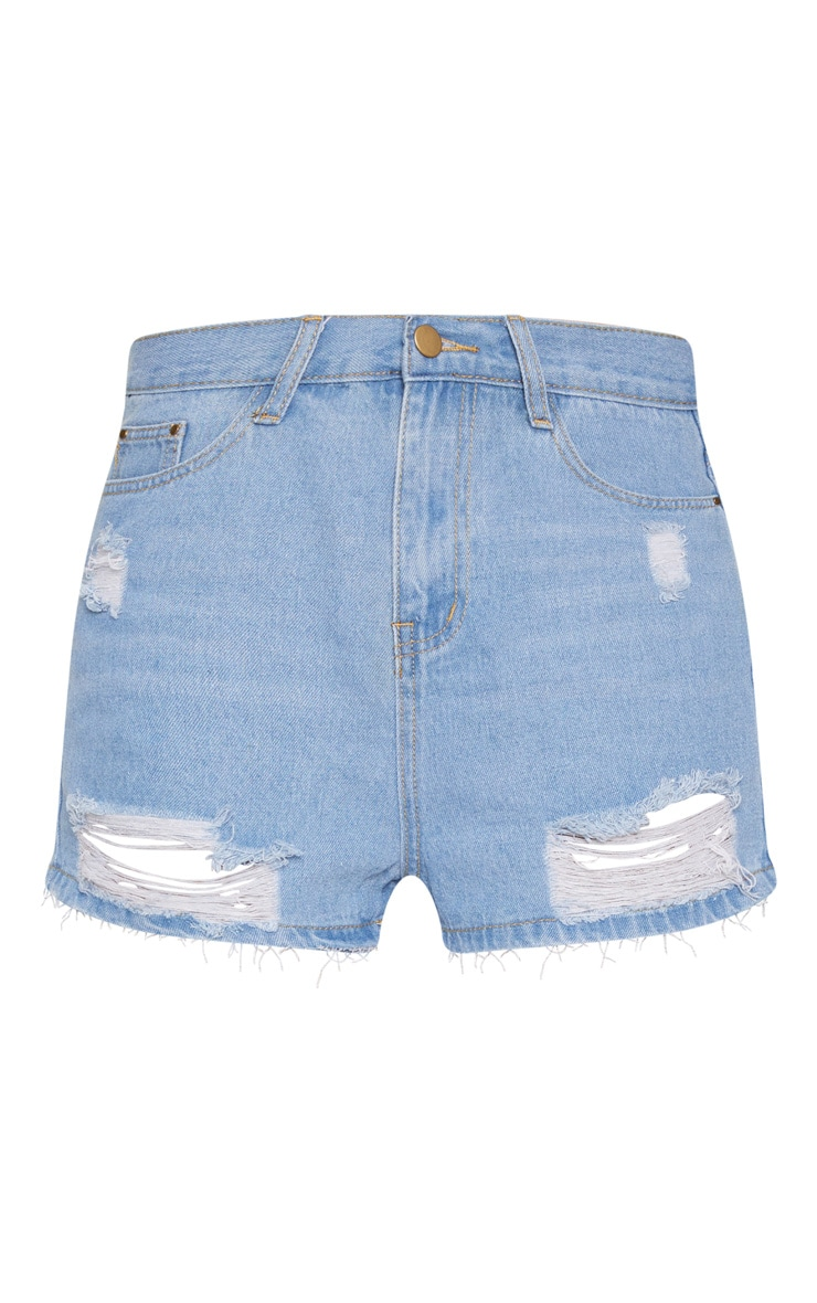 Dirty Vintage Bum Rip Denim Short 3