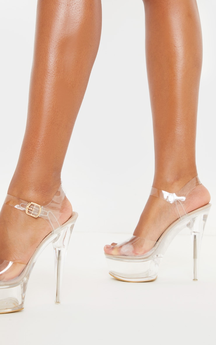 Clear Extreme Clear Platform Sandals 2
