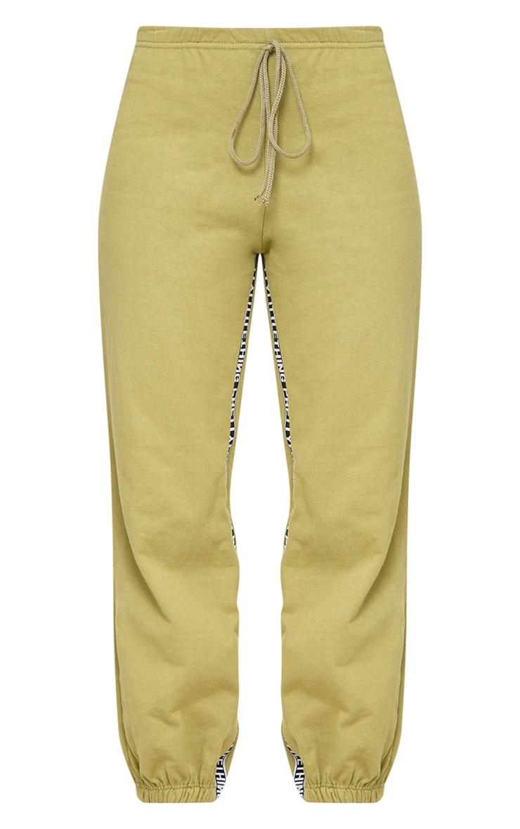 PRETTYLITTLETHING Khaki Branded Joggers 3