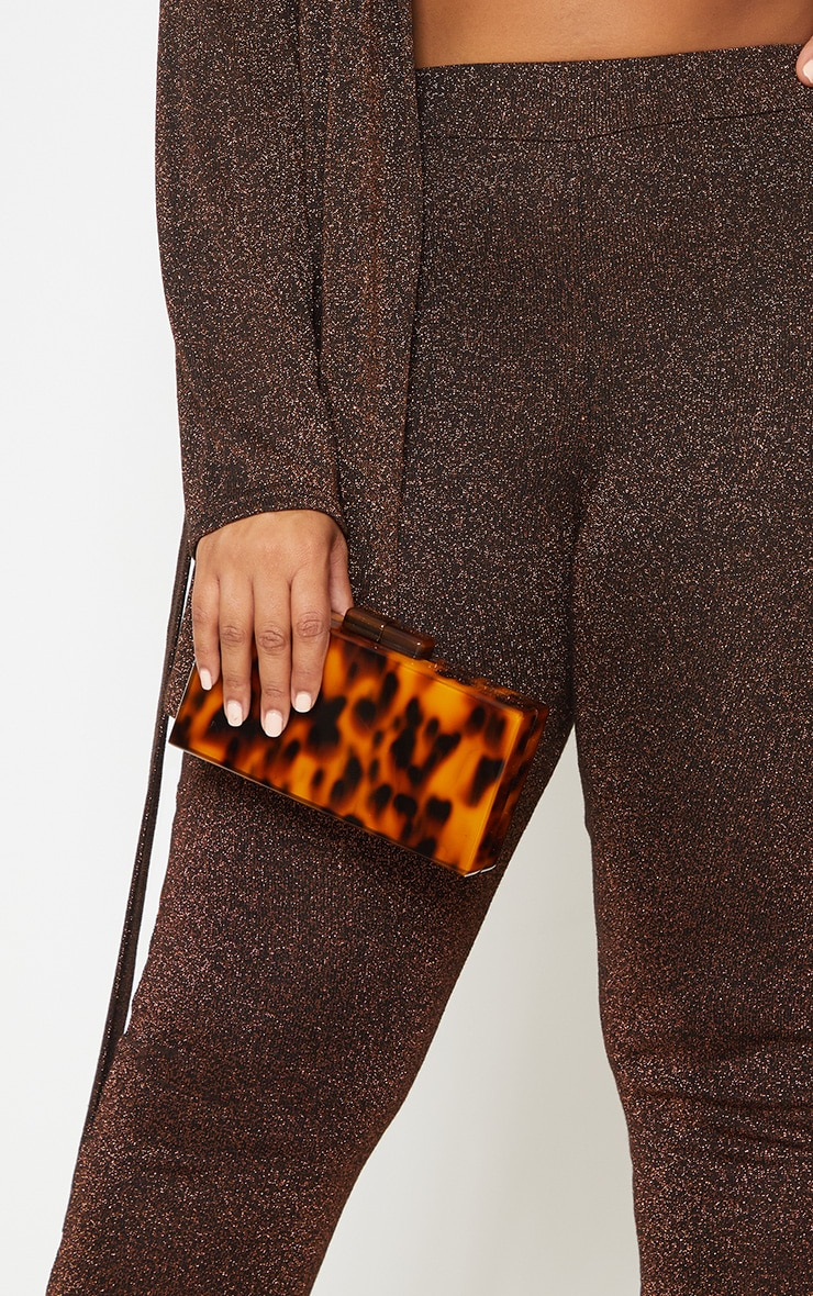 Tortoiseshell Resin Clutch 1