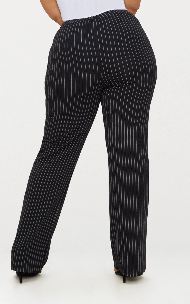 Plus Black Pinstripe Trousers 3