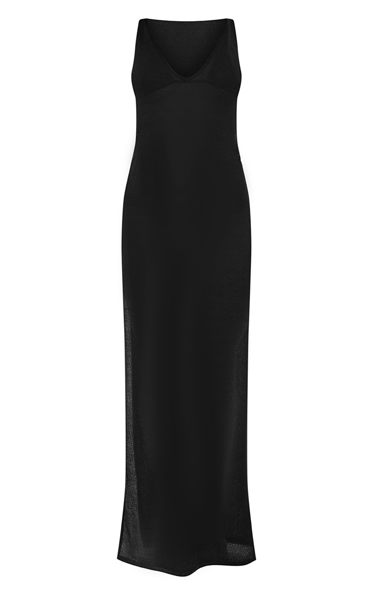 Black Open Side Ring Detailed Beach Maxi 3