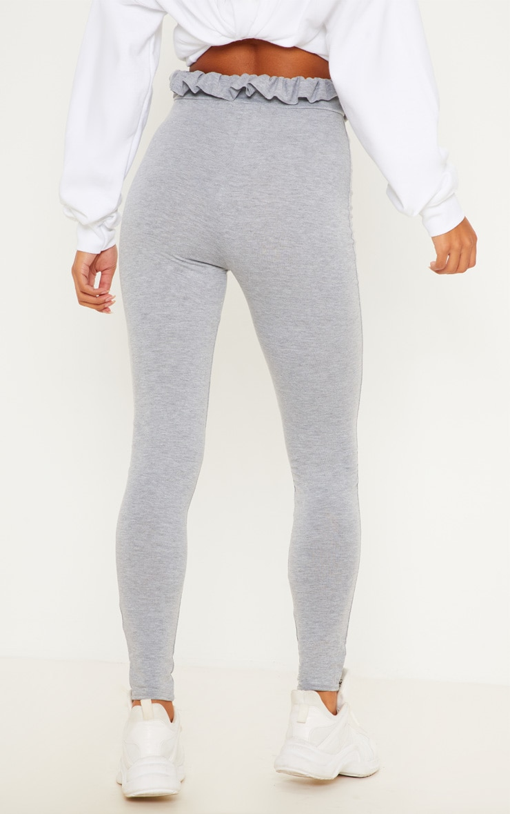 Grey Marl Paperbag Leggings 4