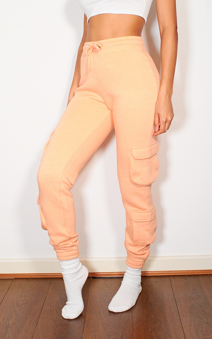 Peach Pocket Detail Joggers 2