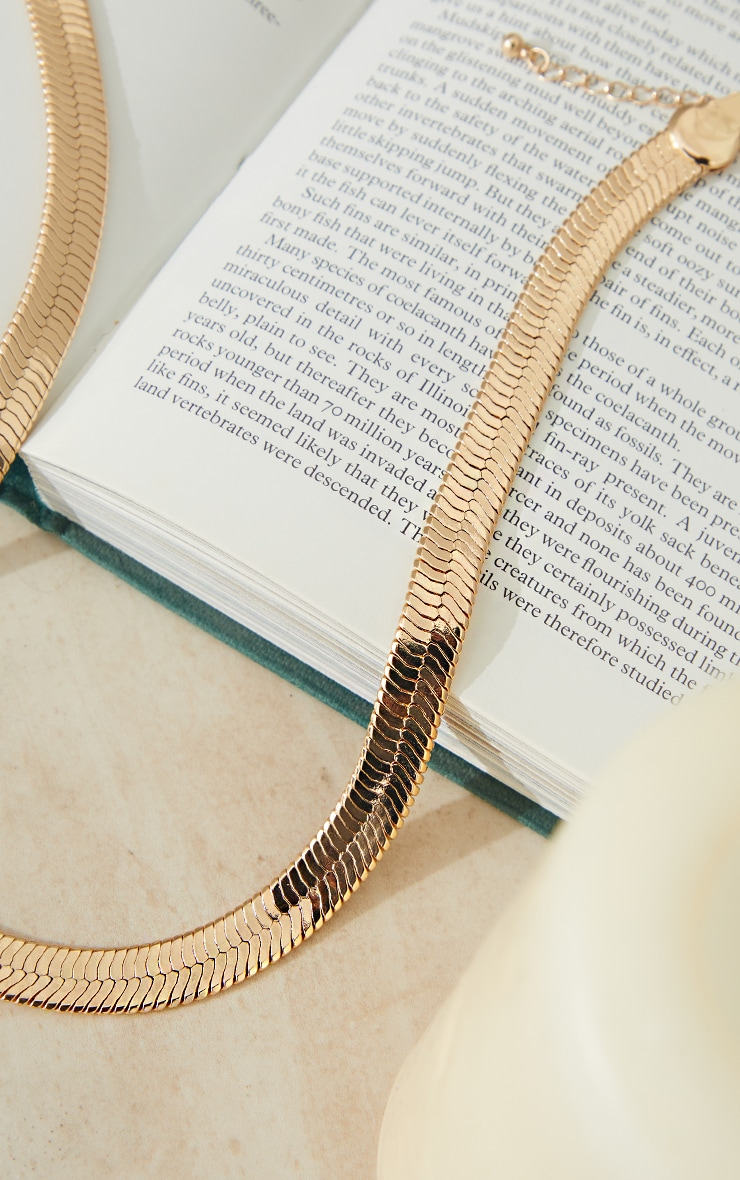 Gold Chunky Snake Chain Necklace 4