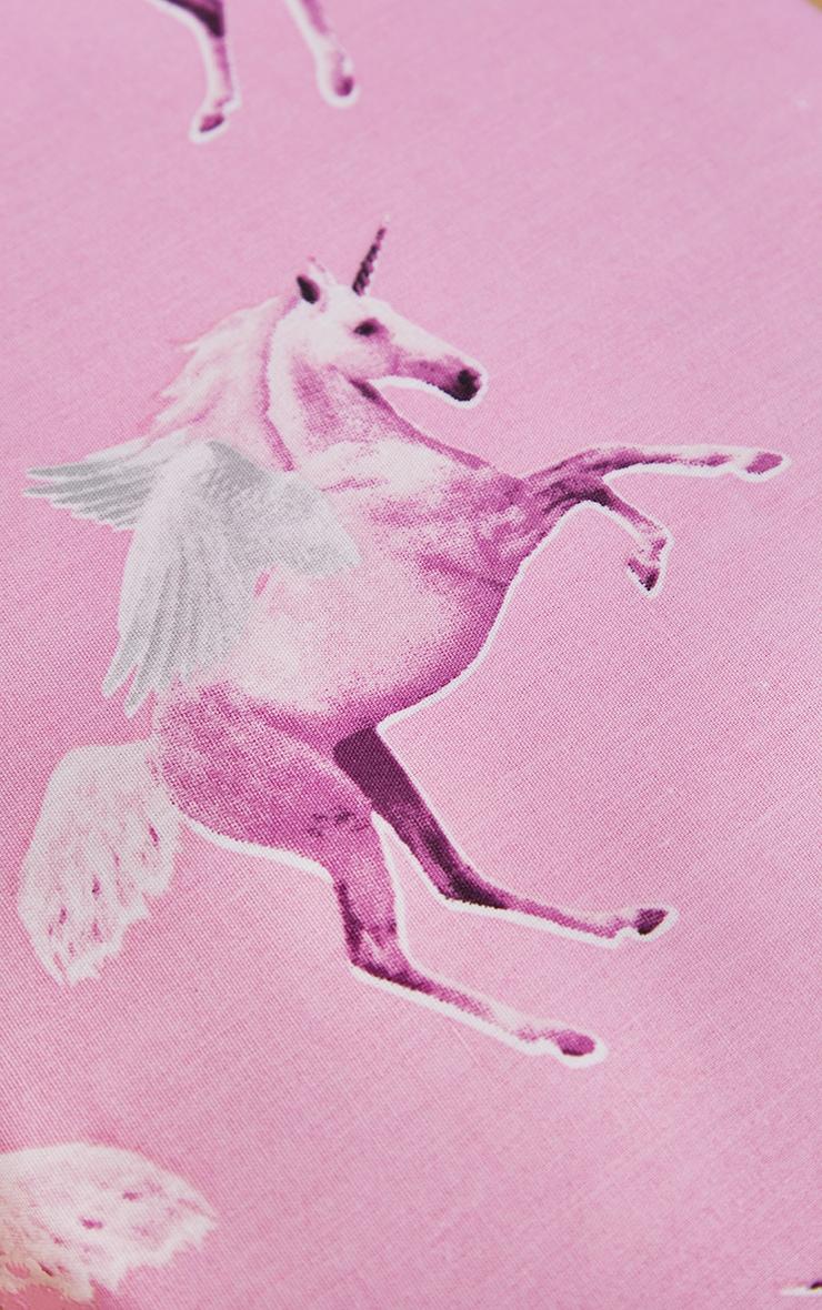 PRETTYLITTLETHING Pink Unicorn Double Duvet Set 4