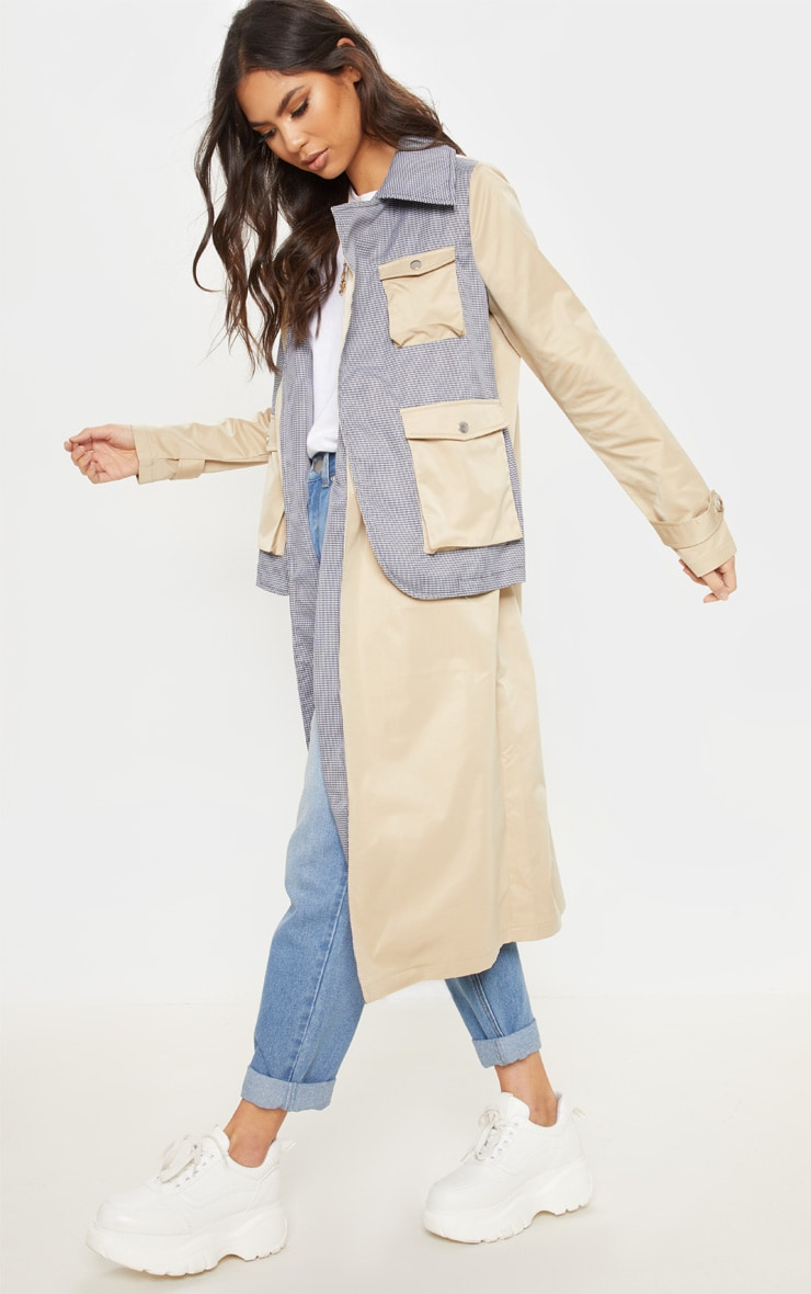 Cream Utility Trench Coat