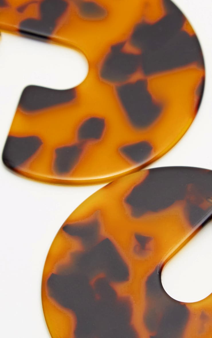 Tortoiseshell 3/4 Disc Drop Earrings 3