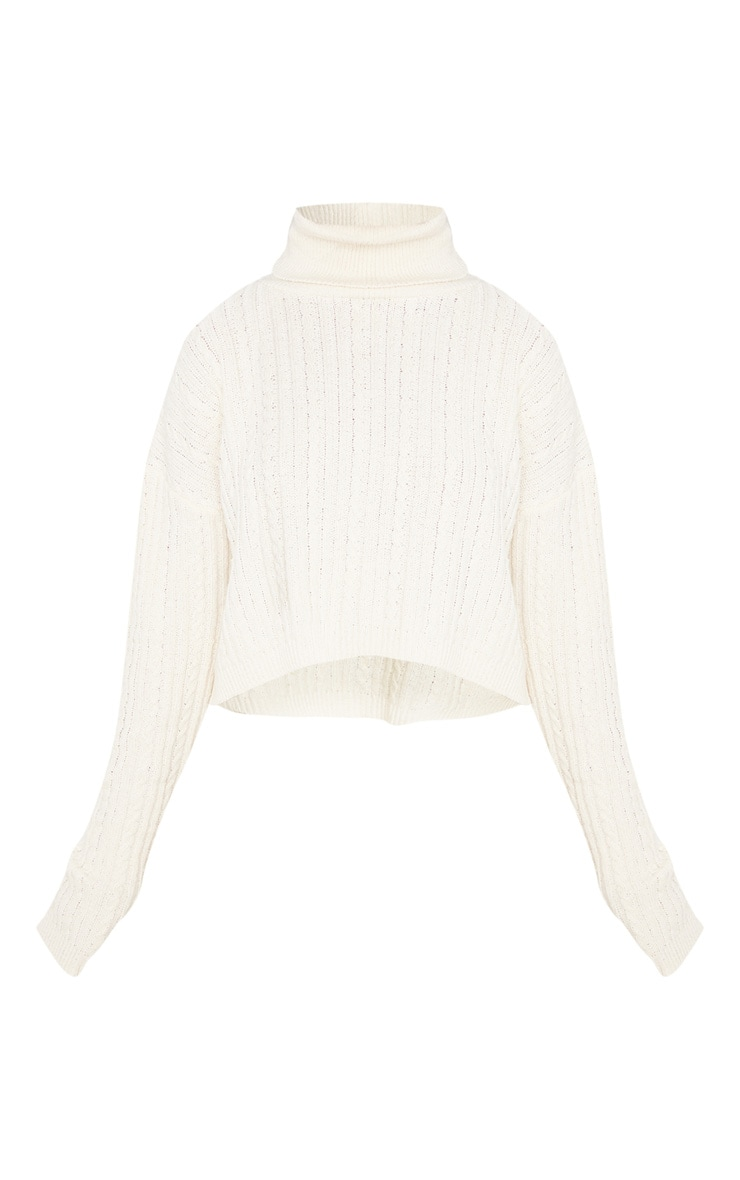 Petite Stone Roll Neck Knitted Long Sleeve Sweater 3