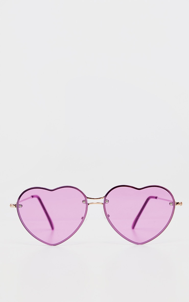 Purple Heart Shaped Sunglasses 2