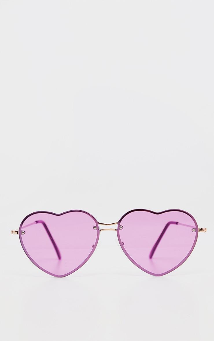 Purple Heart Shaped Sunglasses          2