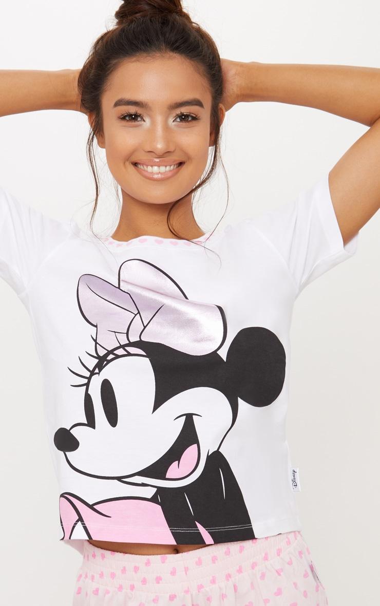 Pale Pink DISNEY Minnie Mouse Frill Detail Short Pyjama Set 5