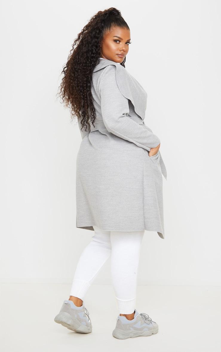 PLT Plus - Manteau gris effet cascade 2