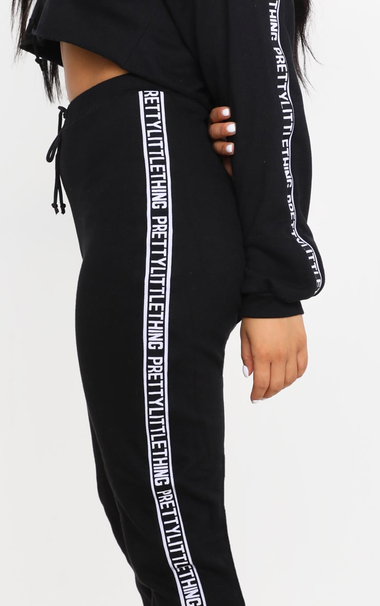 PRETTYLITTLETHING Petite Black Joggers 5