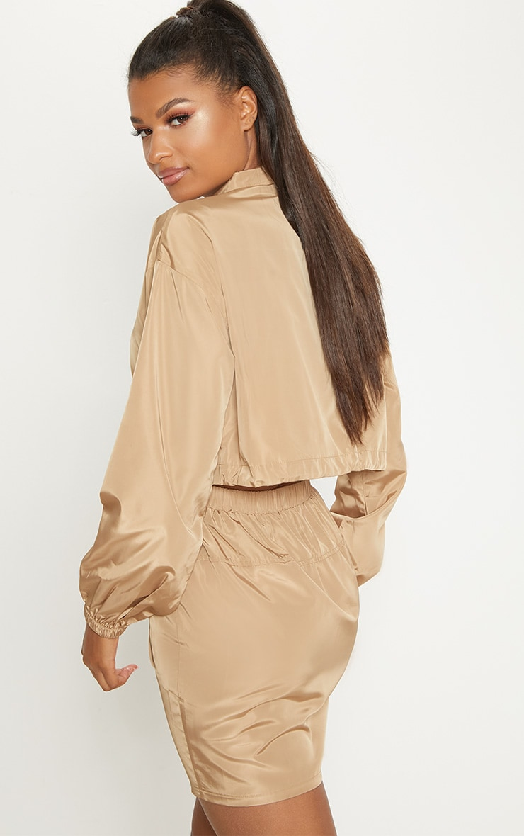 Camel  Shell Suit Jacket  2