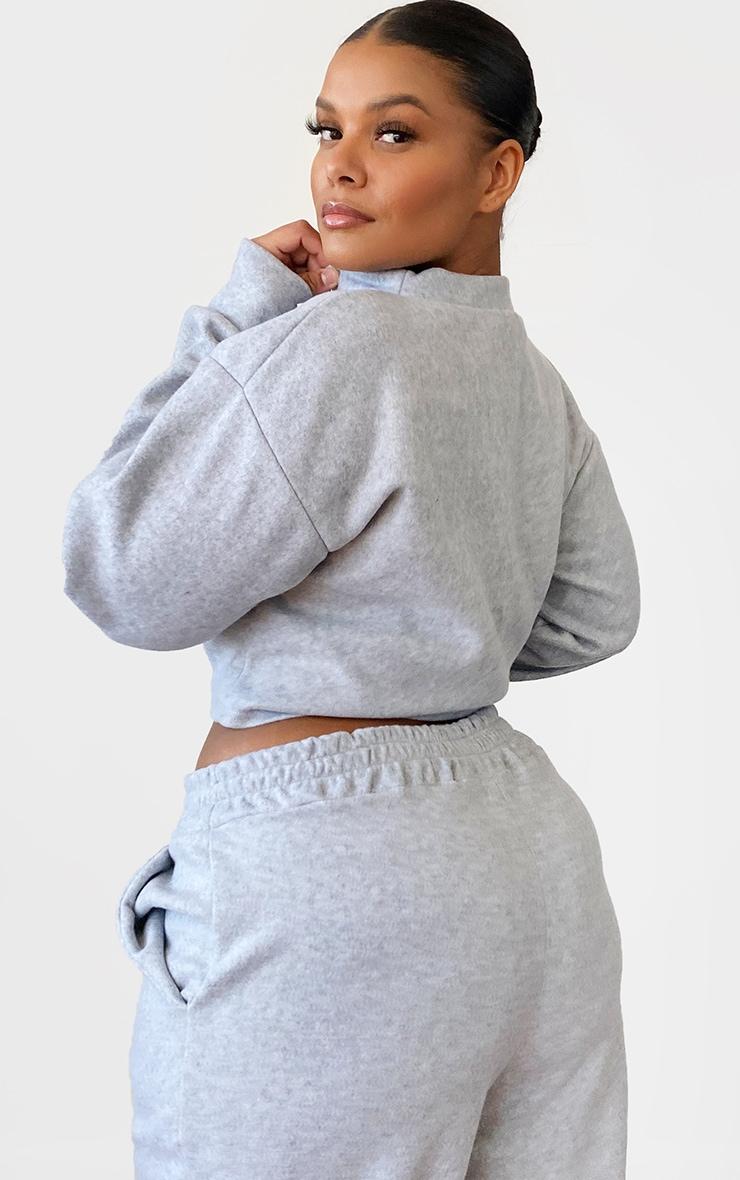 Plus Grey Brushed Sweat Oversized Sweater 2