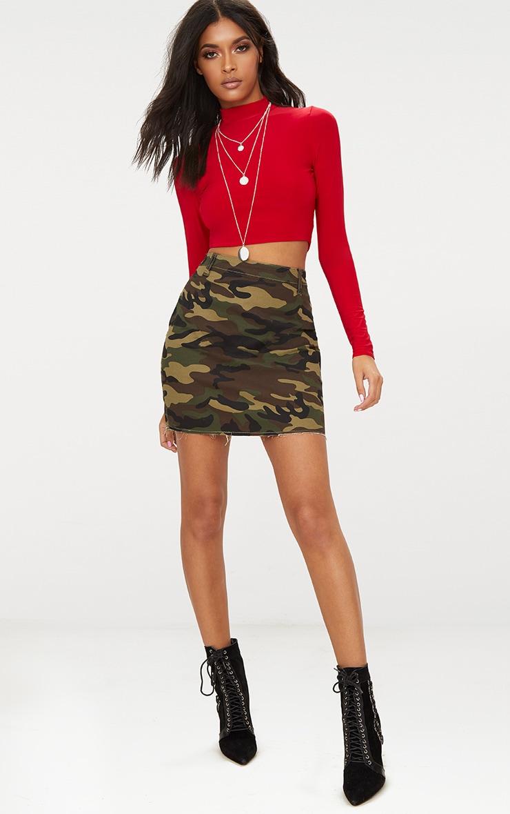 Minijupe en jean camouflage 5