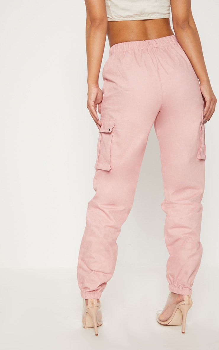 Petite Dusty Pink Pocket Detail Cargo Trousers 5