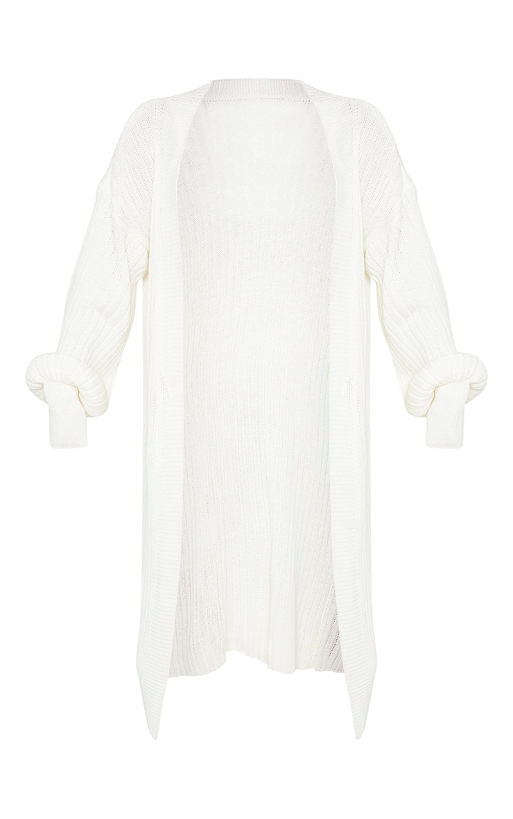 Petite Cream Ribbed Knitted Cardigan 3