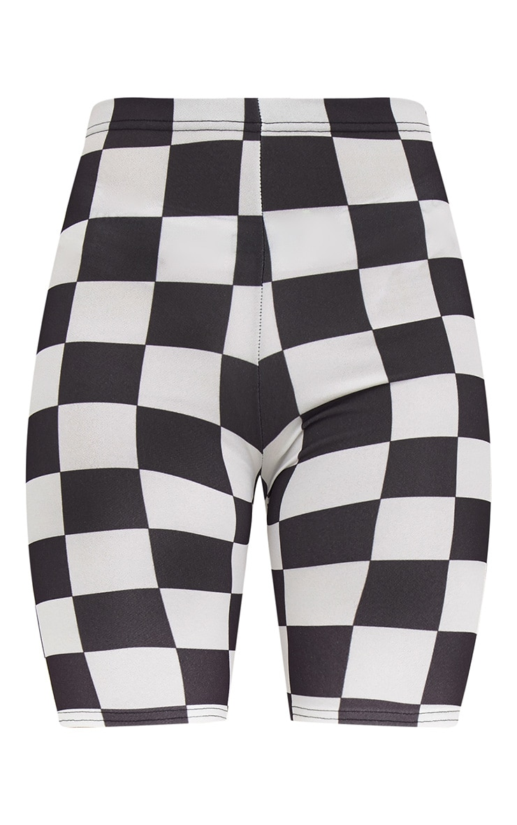 Monochrome Checkerboard Cycle Shorts  3