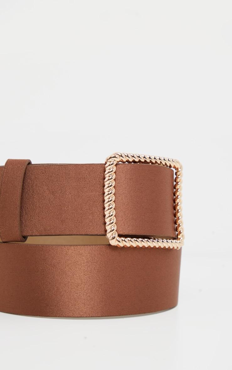 Bronze Gold Twist Buckle Belt 3