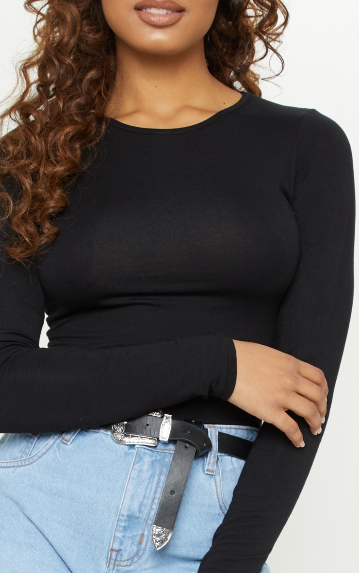 Tall Black Basic Long Sleeve Top 5