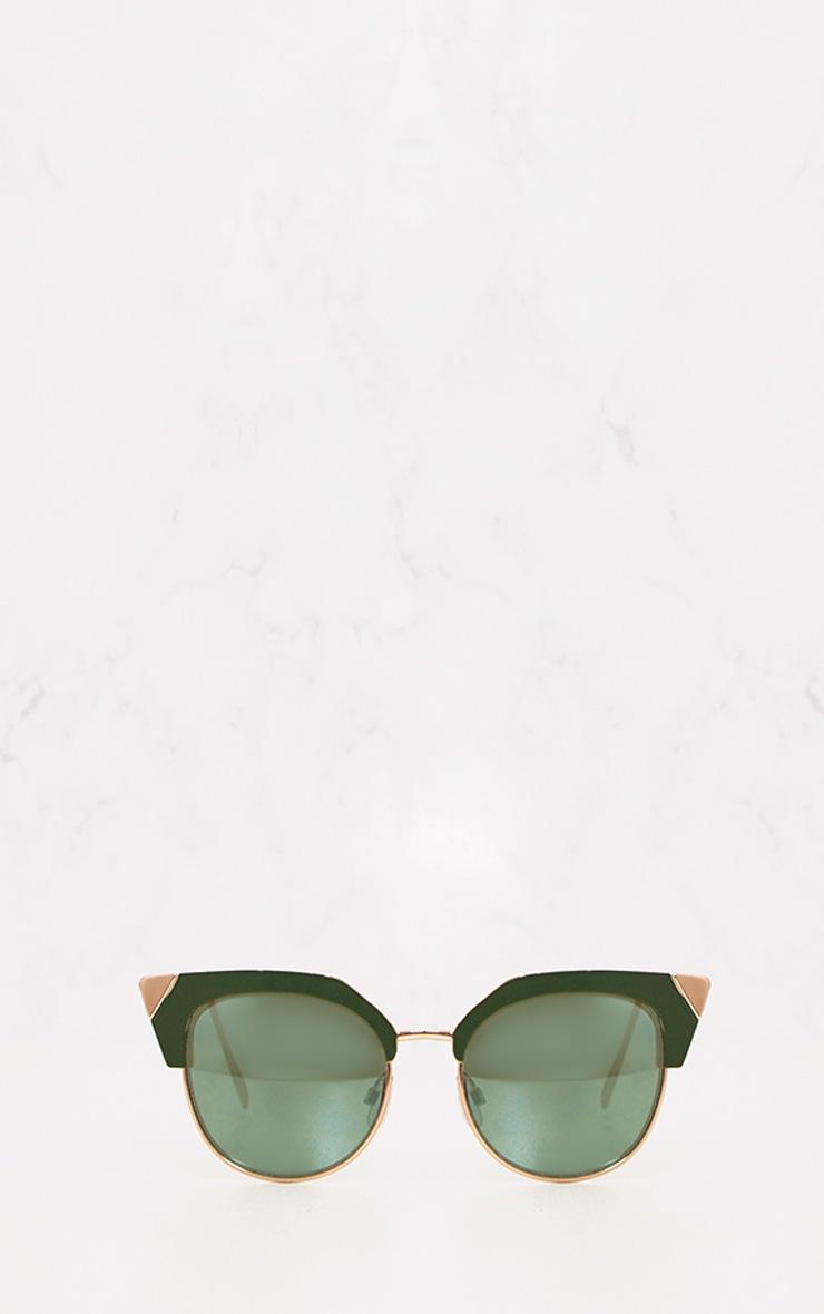 Green Retro Cat Eye Sunglasses 6