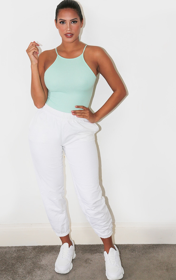 Shape Mint Rib High Neck Basic Bodysuit 2