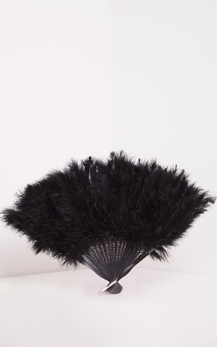 Black Feather Fan 1