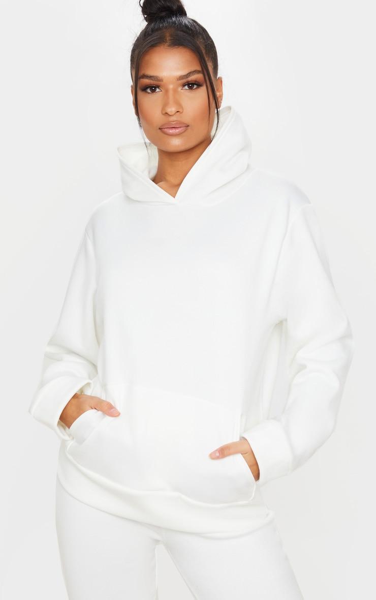 White Fleece Hoodie 1