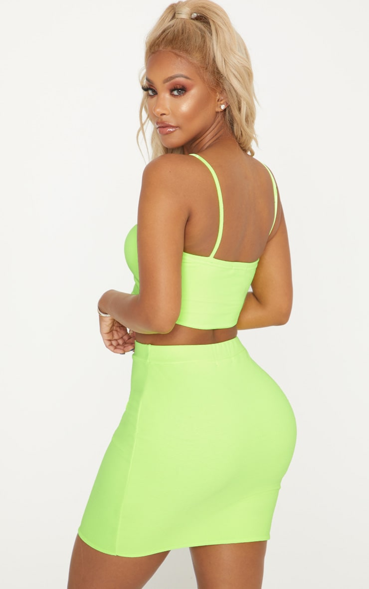 Shape Neon Yellow Strappy Crop Top 2