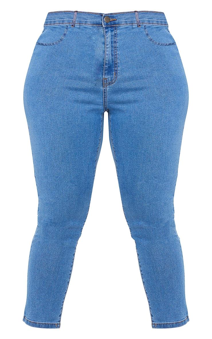 Plus Mid Wash Disco Fit Skinny Jean 5