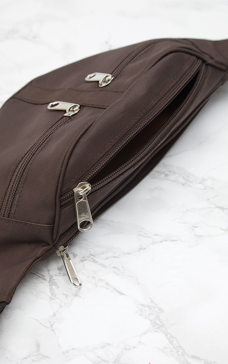 Mocha Double Zip Bum Bag 5
