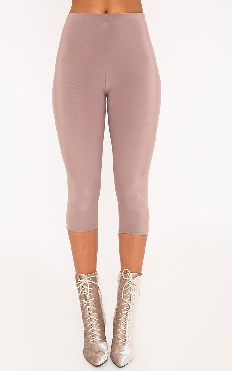 Rio Truffle Slinky Cropped Leggings 2