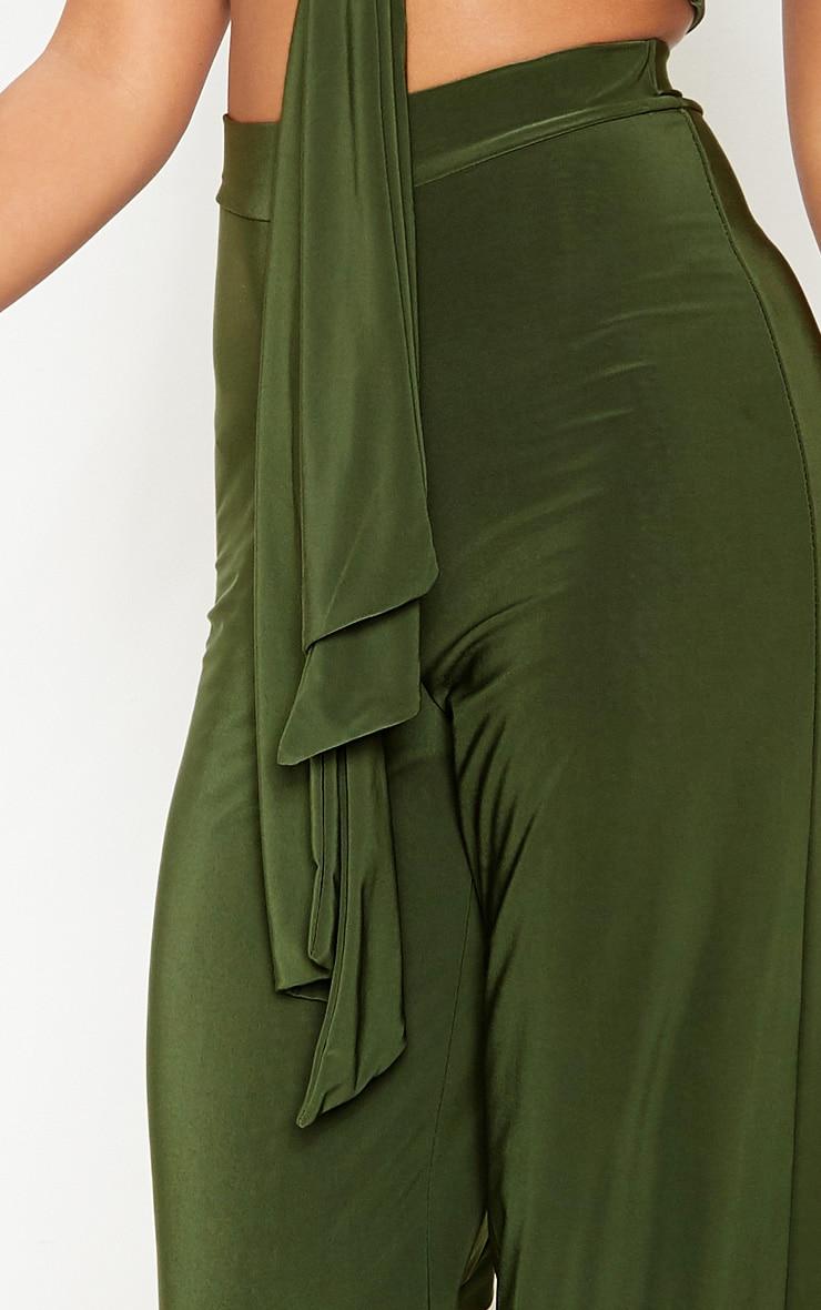 Petite - Pantalon slinky ample vert  5