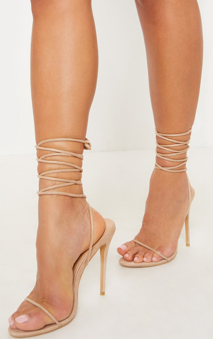 Nude Strappy Sandal  Shoes  Prettylittlething Usa-6203