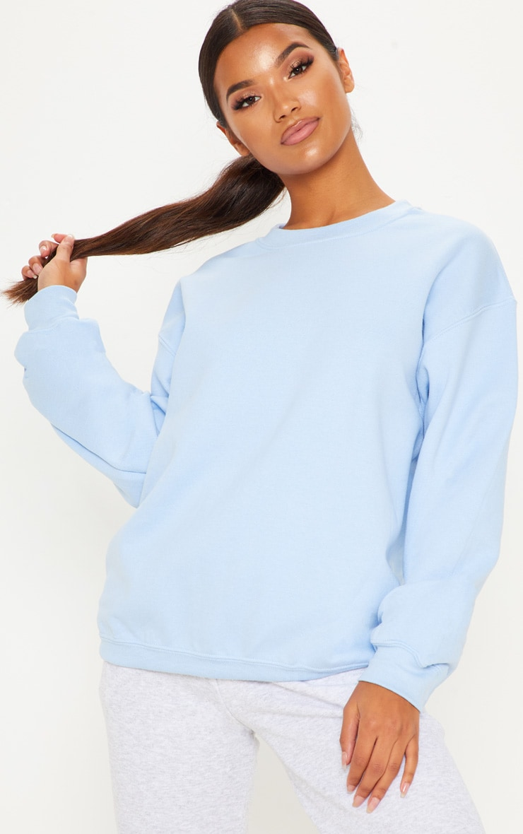 5cb7d3b81 Light Blue Ultimate Oversized Sweater