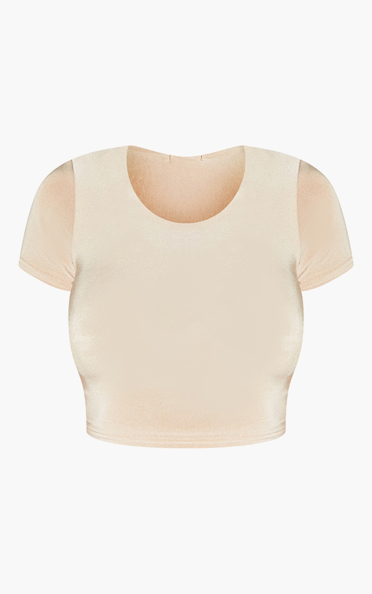 Second Skin Pearl Short Sleeve Crop Top 5