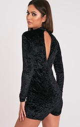 d8723a6c1a0 Hailey Black Velvet Long Sleeve Playsuit - Jumpsuits   Playsuits ...