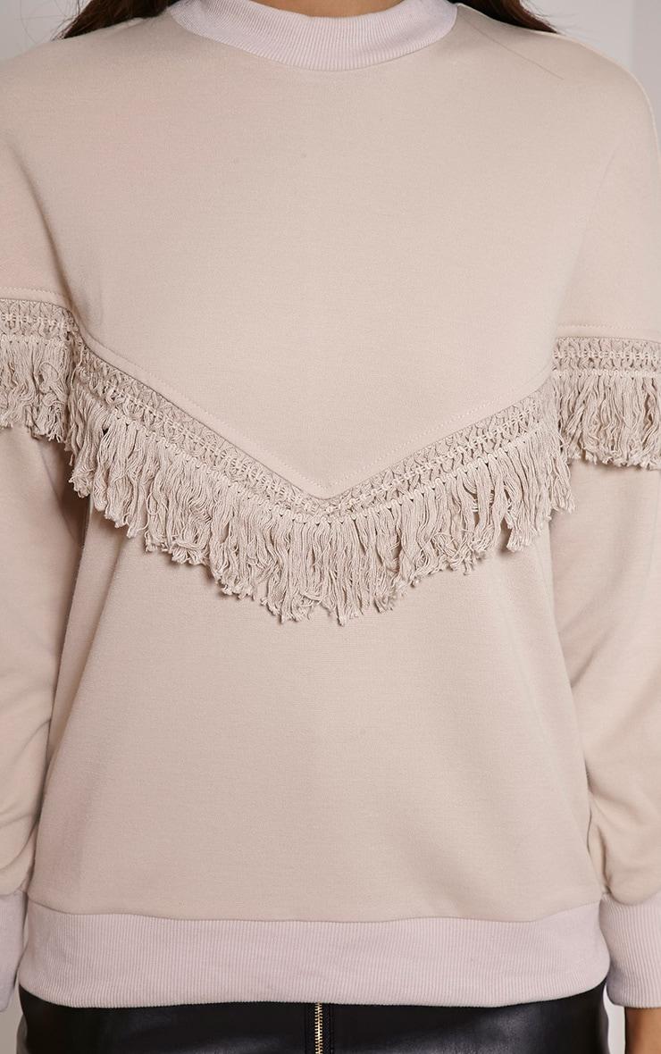 Selena Stone Fringe Sweater 5