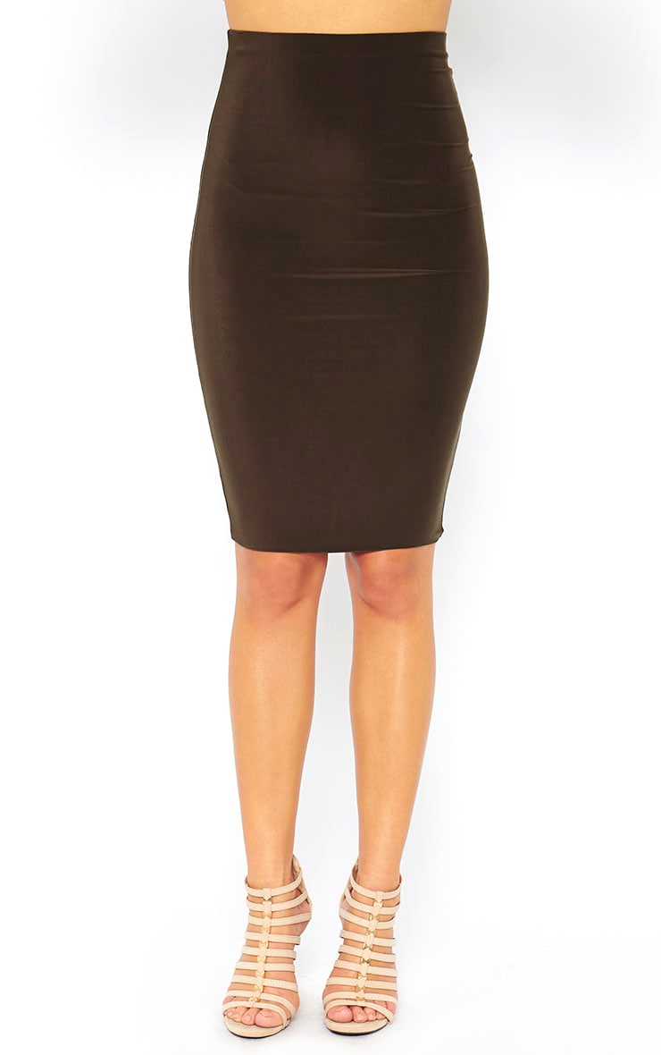 Mulane Khaki Midi Skirt 2