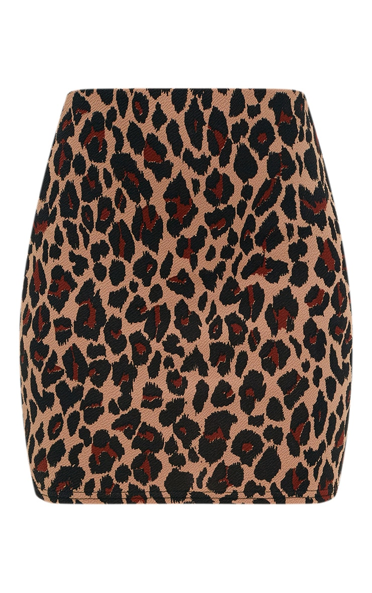 Brown Leopard Print Suit Skirt 3