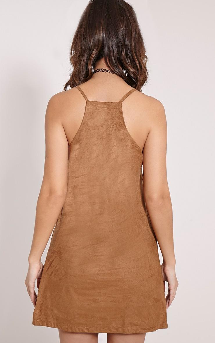 Cammy Tan Faux Suede Bodycon Mini Dress 2
