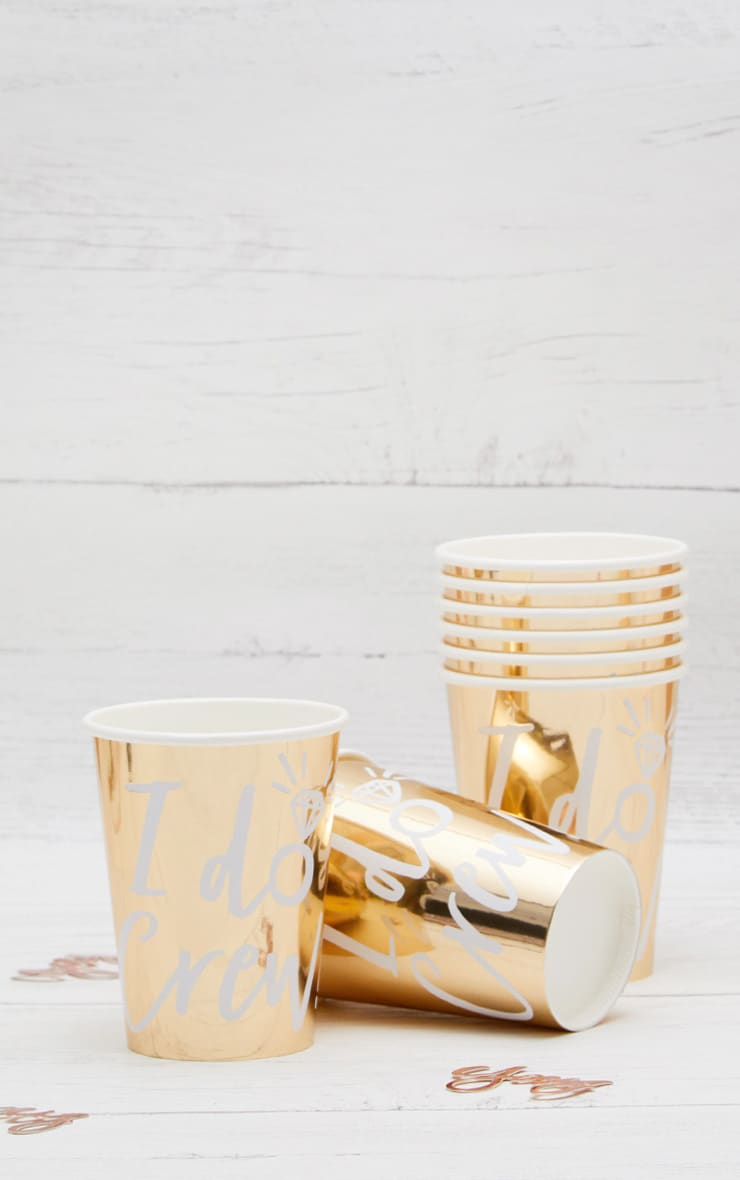 Ginger Ray Metallic Gold Party Cups 1