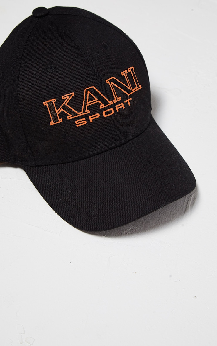KARL KANI Black Embroidered Baseball Cap 3