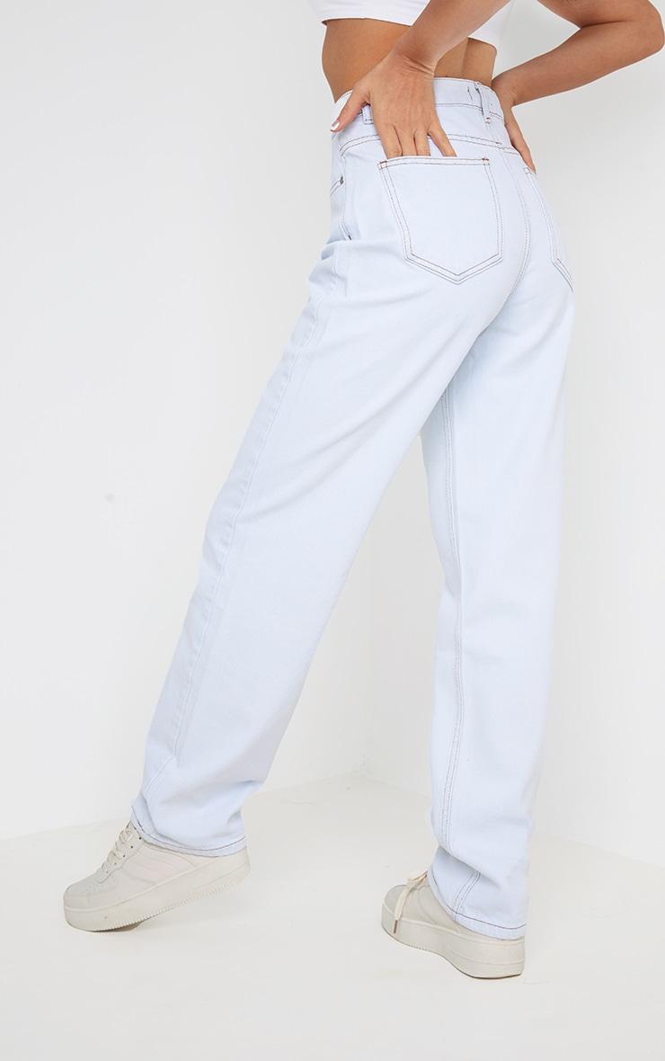 Off White Long Leg Straight Jeans 3