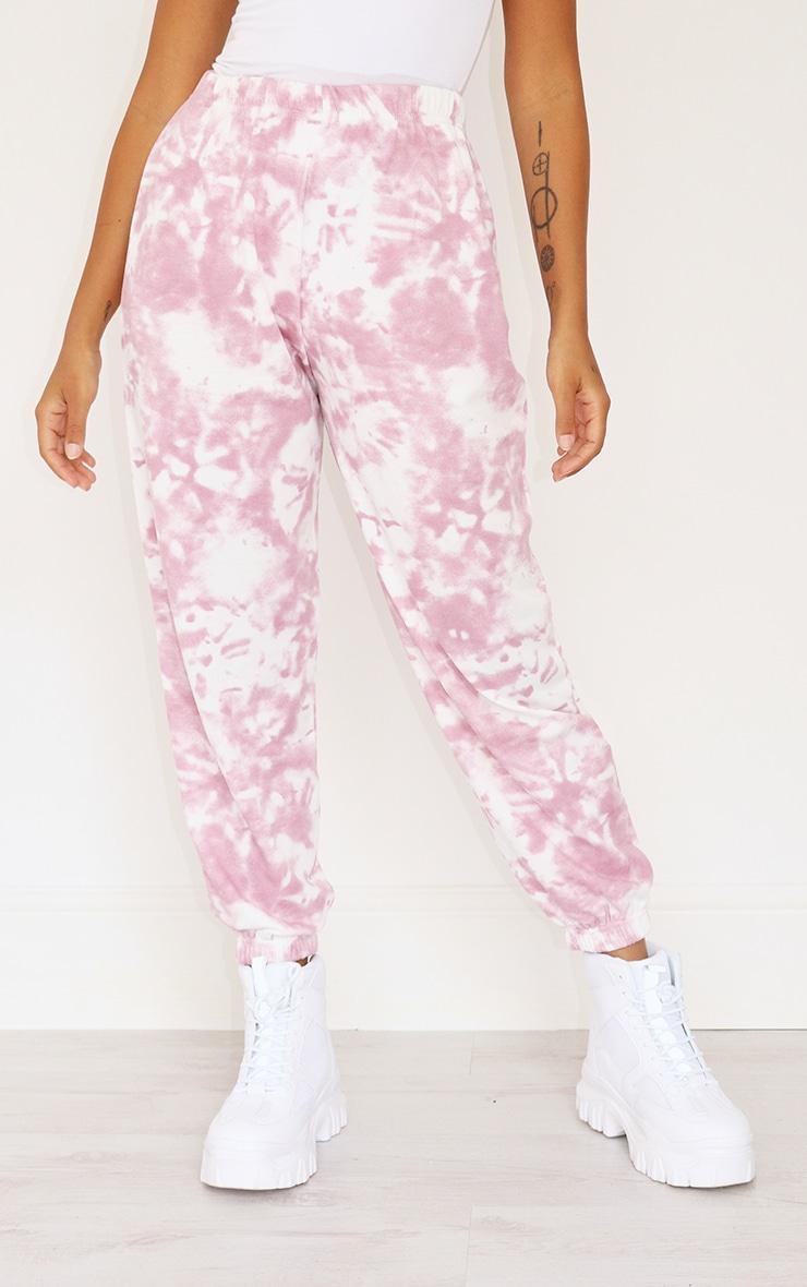 Petite Pink Tie Dye Cuffed Hem Sweatpants 2