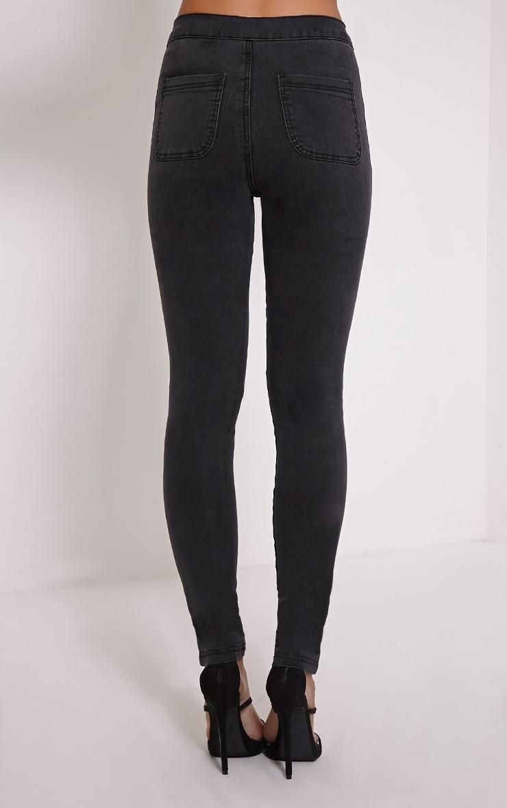 Merritt Charcoal Denim Disco Jeans 3