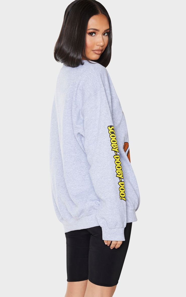 Grey Scooby Doo Printed Sweatshirt 2