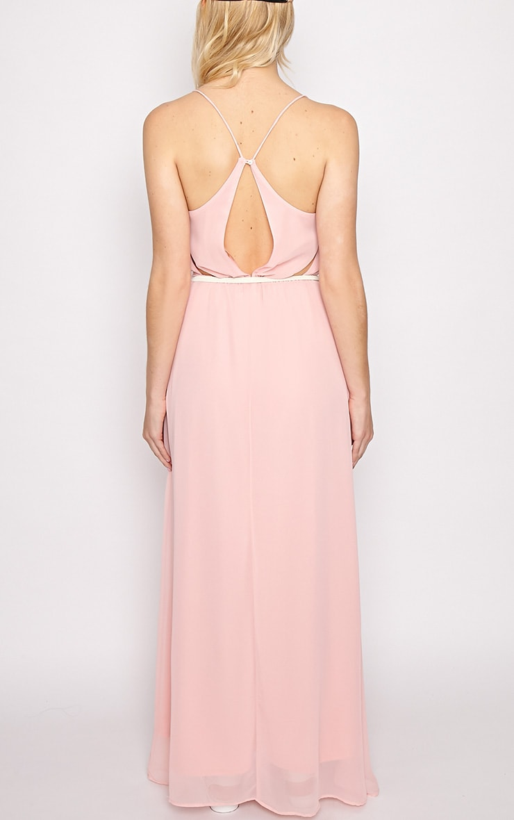 Verity Pink Chiffon Maxi Dress-M 2